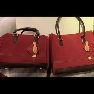 2-Vintage DVF tote and night bag
